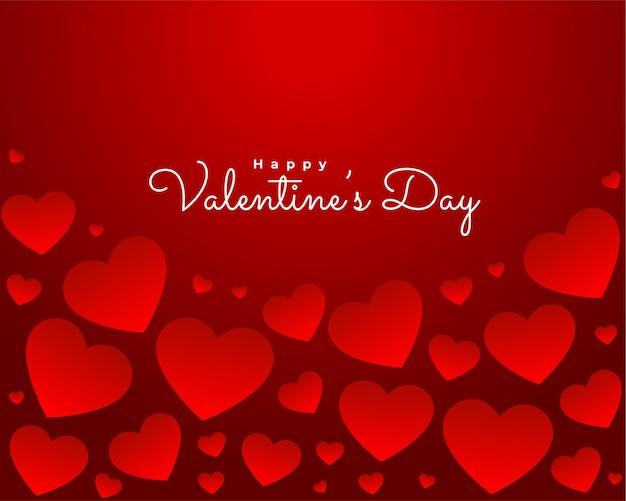 Mooi rood gelukkig valentijnsdag achtergrondontwerp
