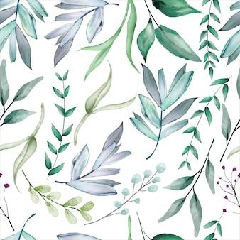 Mooi sappig bloem aquarel naadloos patroon