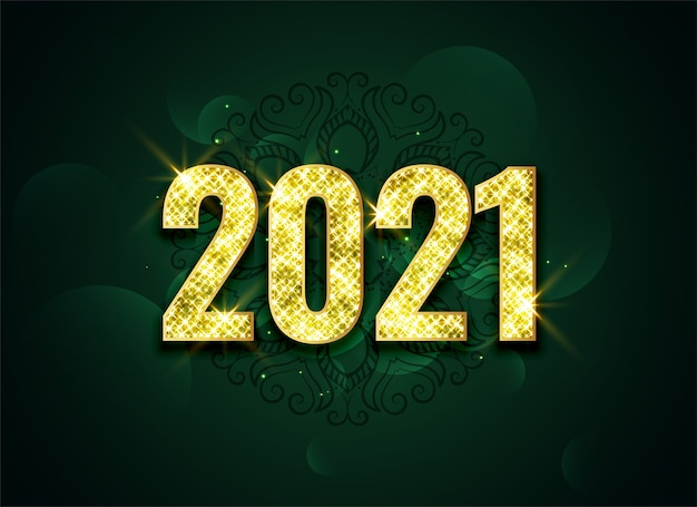 Mooi schittert 2021 gouden viering achtergrondontwerp