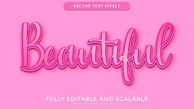 Mooi teksteffect bewerkbaar eps-bestand