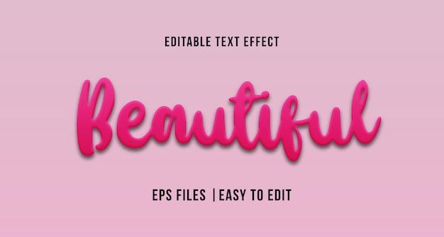 Mooi teksteffect, bewerkbare tekst