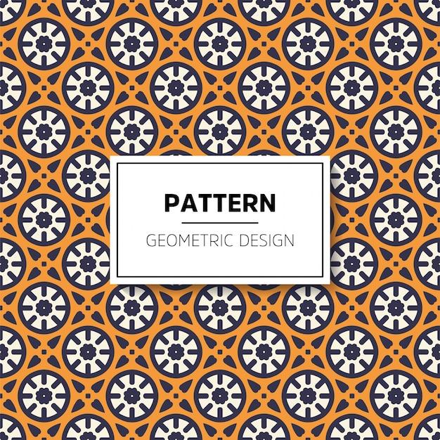 Mooi van het mandala naadloos patroon ontwerp als achtergrond