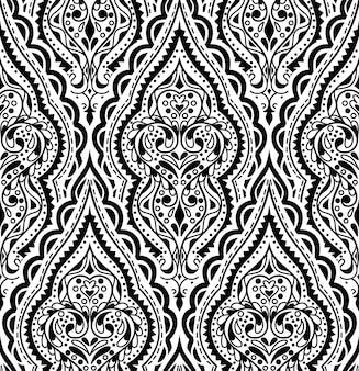 Mooi vectordamast naadloos patroon