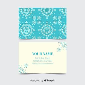 Mooi visitekaartje in mandalastijl