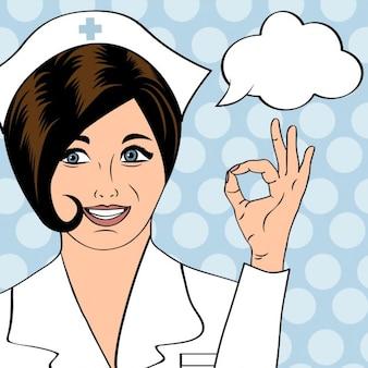 Mooi vriendelijk en vertrouwen verpleegkundige