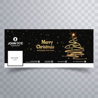 Mooi vrolijk de bannermalplaatje van kerstmisboom facebook