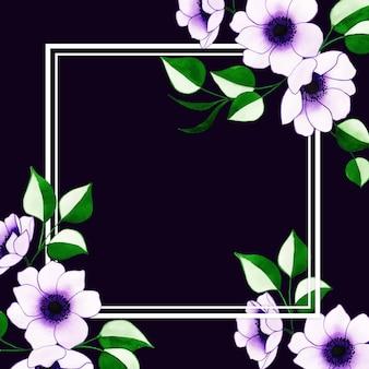 Mooi waterverf bloemenkader