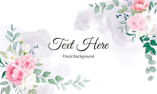 Mooi zacht bloemen- en bladerenontwerp
