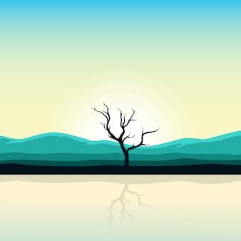 Mooi zonsopganglandschap van aard
