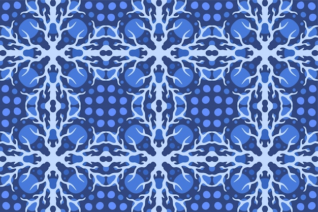 Mooie achtergrond met abstract blauw naadloos patroon met bliksem
