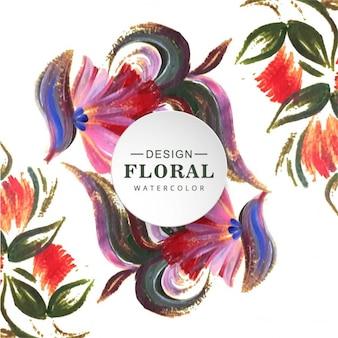Mooie achtergrond met bloemen aquarel