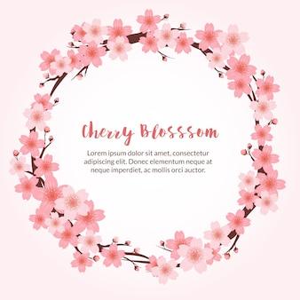 Mooie achtergrond van de kersenbloesem