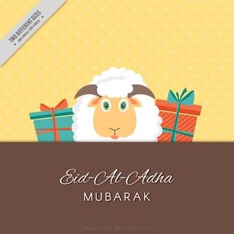 Mooie achtergrond van eid al-adha