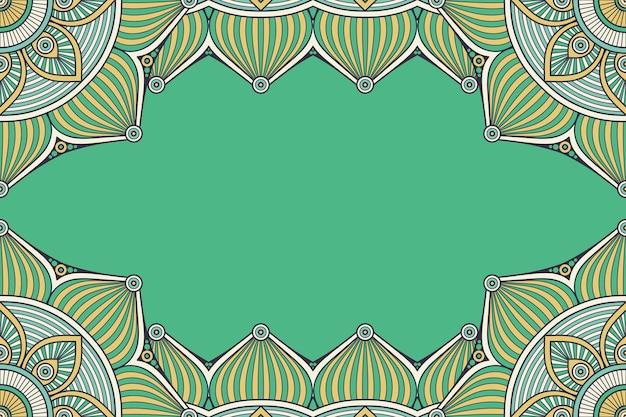 Mooie achtergrond versierd met kleurrijke mandala frame