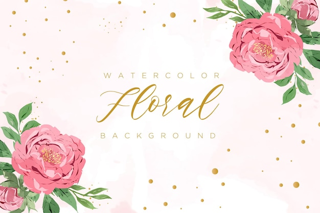 Mooie aquarel bloemen achtergrond