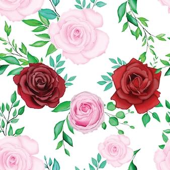 Mooie aquarel bloemen bruiloft kaartsjabloon