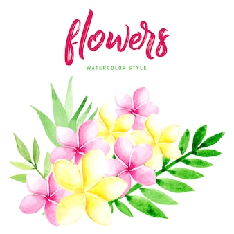 Mooie aquarel bloemen