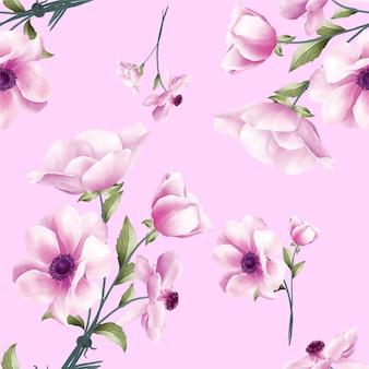 Mooie aquarel bloemenachtergrond