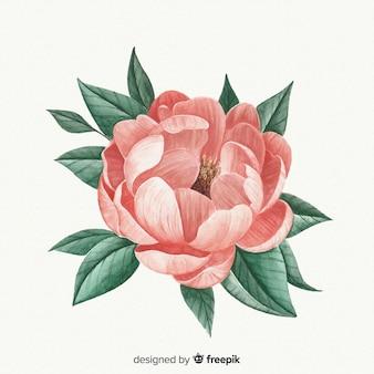 Mooie aquarel colar bloem