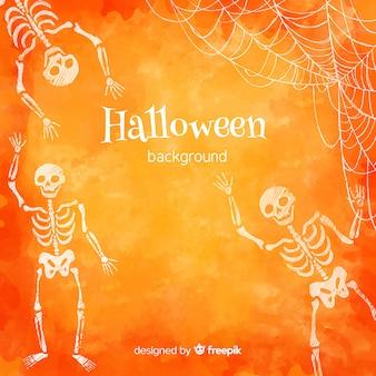 Mooie aquarel halloween achtergrond
