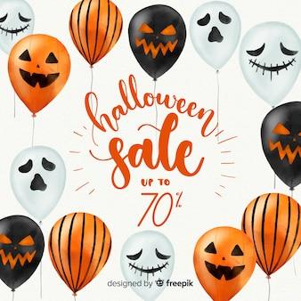 Mooie aquarel halloween verkoop samenstelling