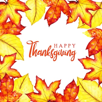 Mooie aquarel happy thanksgiving achtergrond