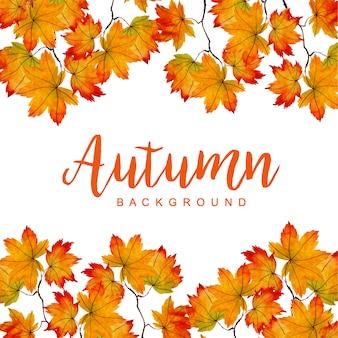 Mooie aquarel herfst achtergrond