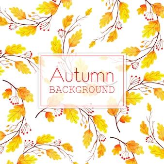 Mooie aquarel herfst bladeren achtergrond