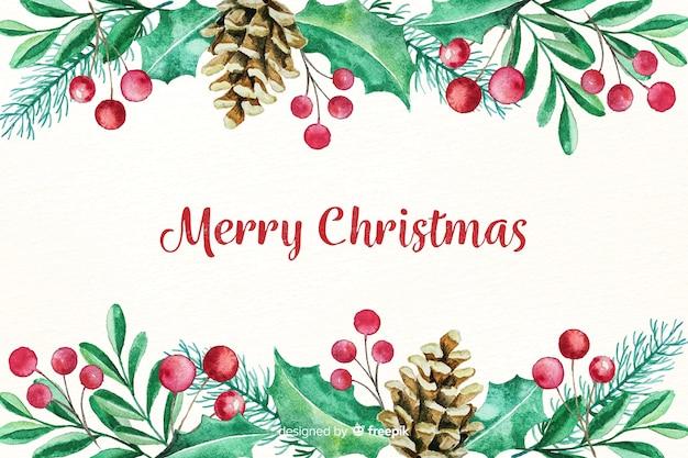 Mooie aquarel kerst achtergrond
