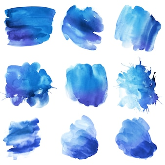 Mooie aquarel splash, abstracte kleurrijke vlek