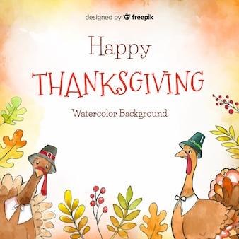 Mooie aquarel thanksgiving achtergrond