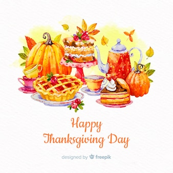 Mooie aquarel thanksgiving day achtergrond