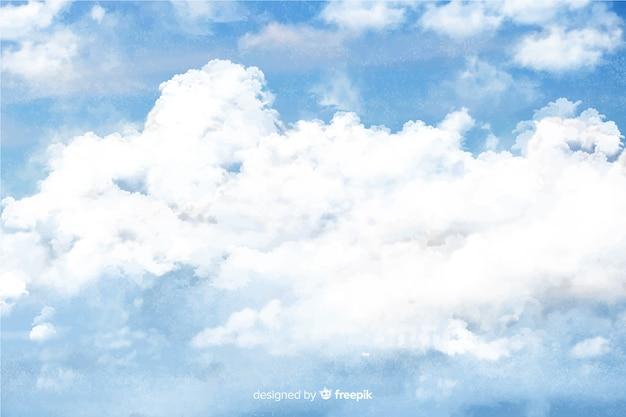 Mooie aquarel wolken achtergrond