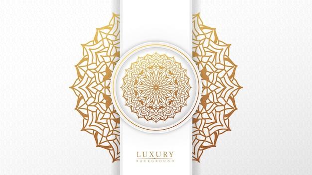 Mooie arabische mandala-achtergrond met gouden arabesk patroon islamitische stijl