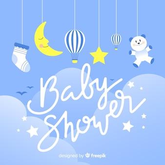 Mooie baby shower achtergrond