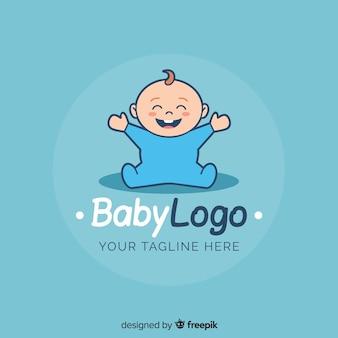 Mooie baby winkel logo sjabloon met moderne stijl