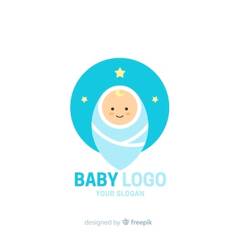 Mooie baby winkel logo sjabloon