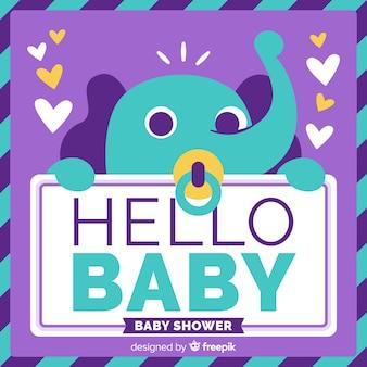 Mooie babydouchesamenstelling met vlak ontwerp