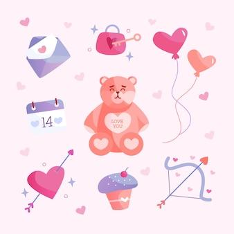 Mooie badges voor valentijn dag