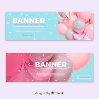 Mooie ballonnen banners met foto