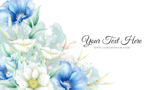 Mooie banner bloemen en bladeren sjabloon