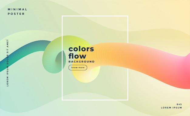 Mooie banner van kleurrijke vloeibare lijnachtergrond