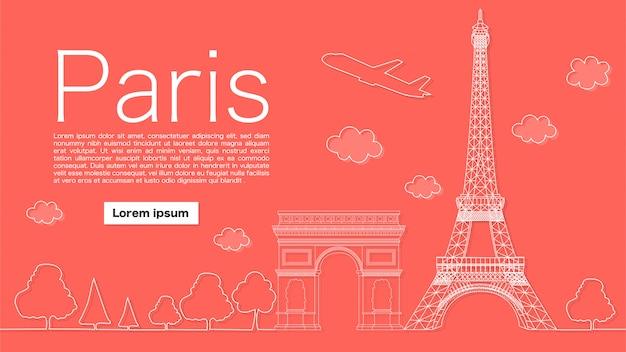 Mooie banner van parijs