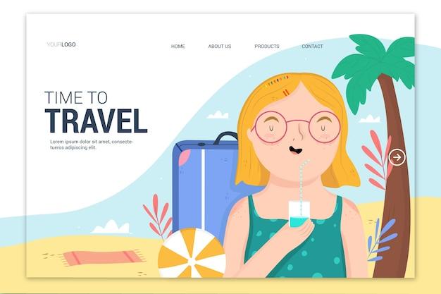Mooie bestemmingspagina voor reizen