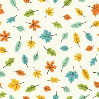 Mooie bladeren. kleurrijk naadloos patroon. vector illustratie