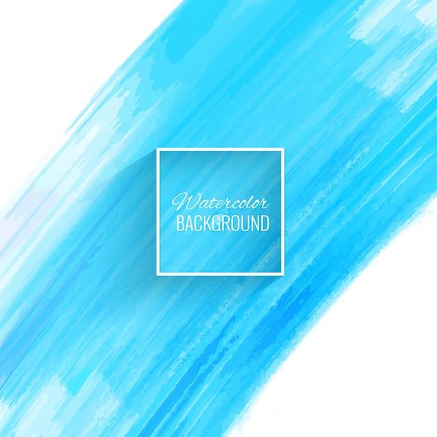 Mooie blauwe aquarel beroerte achtergrond