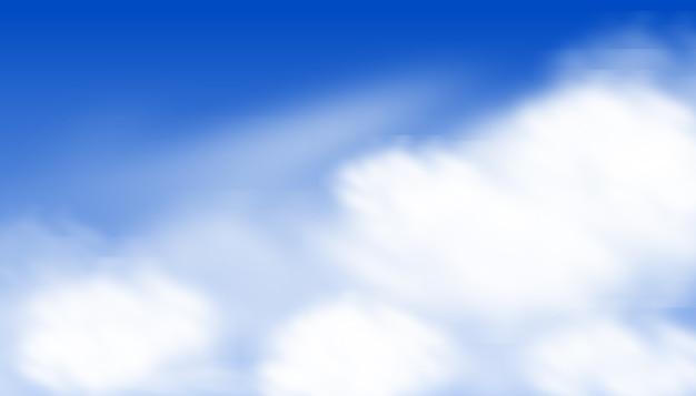 Mooie blauwe aquarel hemelachtergrond