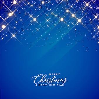 Mooie blauwe fonkelingenachtergrond voor kerstmisseizoen