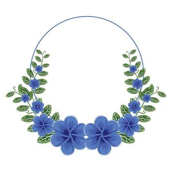 Mooie bloem bloemen krans circle frame flat