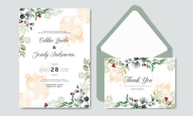 Mooie bloem bruiloft uitnodigingskaarten